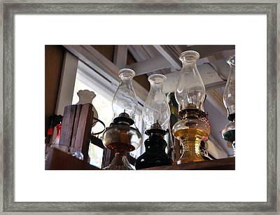 Oil Lamps Framed Print by Jan Amiss Photography