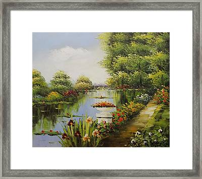 Oil Msc 038 Framed Print