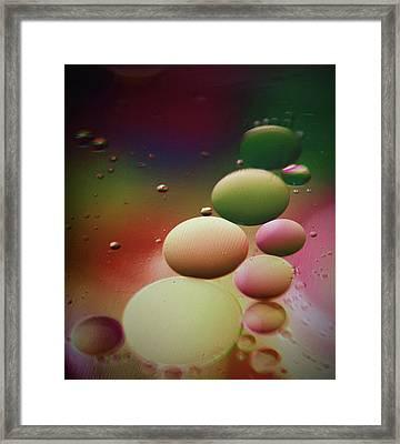 Oil Orbs And Colour Framed Print