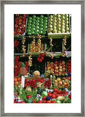 Oil Painted Faux Paris Fruit Display Framed Print