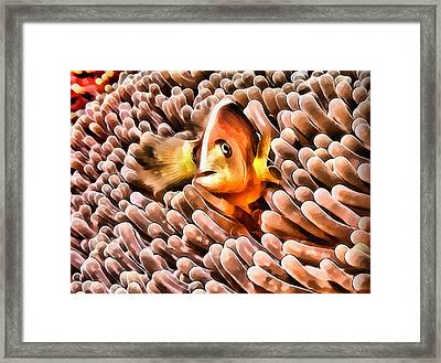Oil Painting - Clowning Around Framed Print by Alex Zolotar