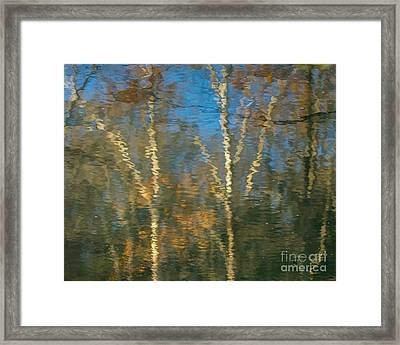 Oil Painting Trees Framed Print