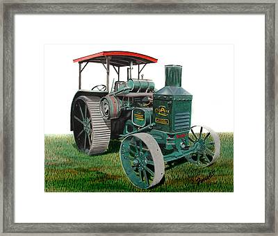 Oil Pull Tractor Framed Print