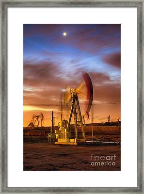 Oil Rig 1 Framed Print