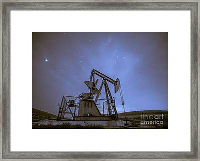 Oil Rig And Stars Framed Print