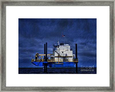 Oil Rig Framed Print by Dave Bosse