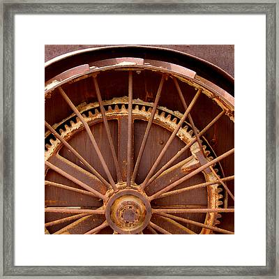 Oil Rig Wheel Framed Print by Art Block Collections