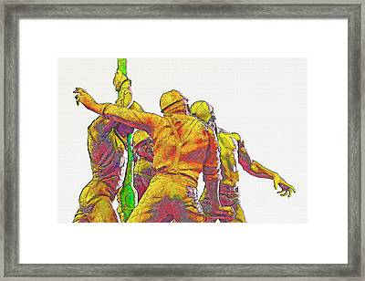 Oil Rig Workers 5 Framed Print by Steve Ohlsen