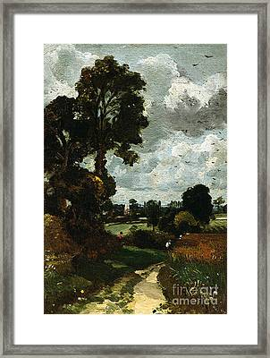 Oil Sketch Of Stoke-by-nayland Framed Print by John Constable