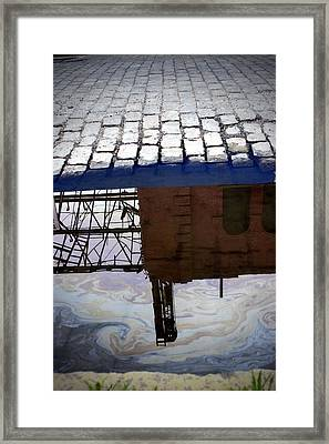 Oil Slick Factory Framed Print