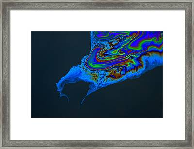 Oil Slick Framed Print