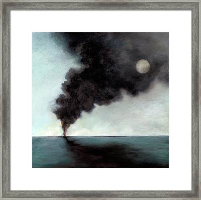 Oil Spill 3 Framed Print by Katherine DuBose Fuerst