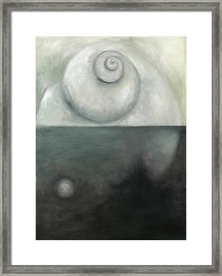 Oil Spill L Framed Print by Katherine DuBose Fuerst