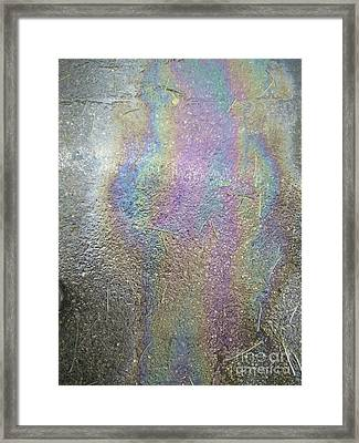 Oil Spill Rainbow Colors Framed Print by Shay Levy