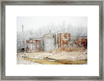 Oil Tank Farm Framed Print by Fred Lassmann