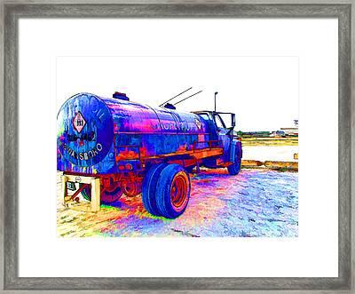 Oil Tanker Truck Framed Print