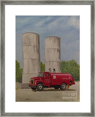 Oil Truck Framed Print