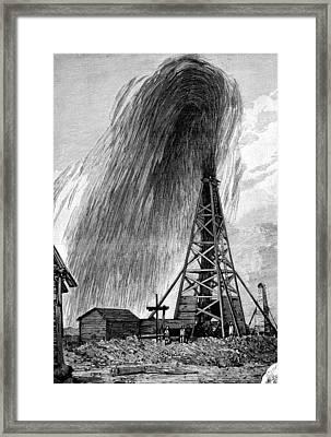 Oil Well, 19th Century Framed Print