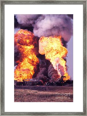 Oil Well Fire Framed Print