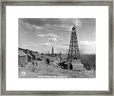 Oil Well, Wyoming, C1910 Framed Print