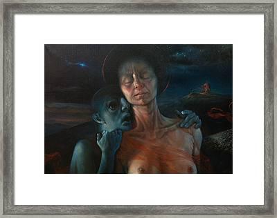 Oil-whisperings Framed Print by Graszka Paulska