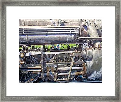 Oiling The 28 Framed Print by Gary Symington