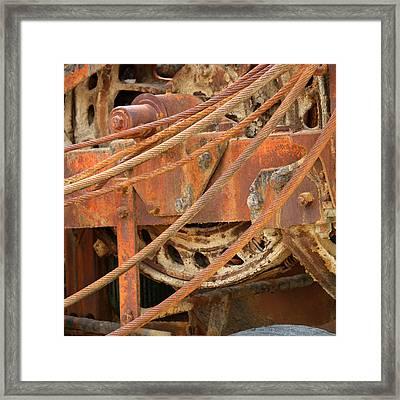 Oil Production Rig Framed Print