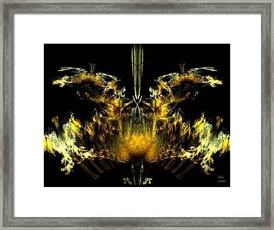 Oiseau De Feu Framed Print by Dom Creations