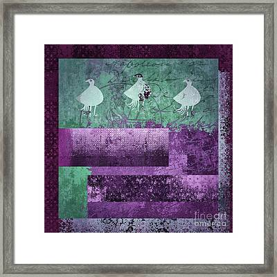 Framed Print featuring the digital art Oiselot 01 - J097179222-bl02a by Variance Collections