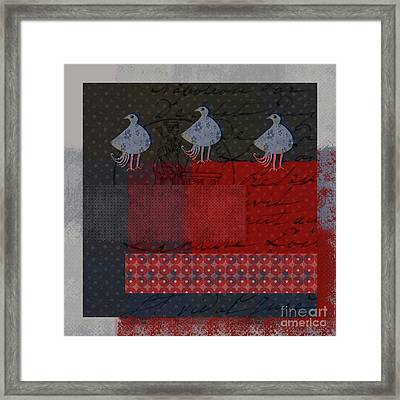 Framed Print featuring the digital art Oiselot - S23 by Variance Collections