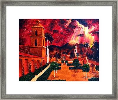 Ojai Red I Framed Print by Chris Haugen