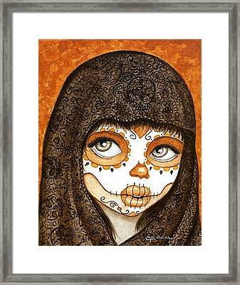Framed Print featuring the painting Ojos Brillantes by Al  Molina