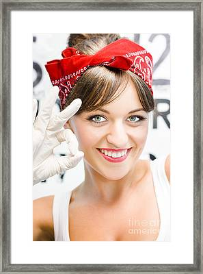 Ok Cleaning Framed Print by Jorgo Photography - Wall Art Gallery