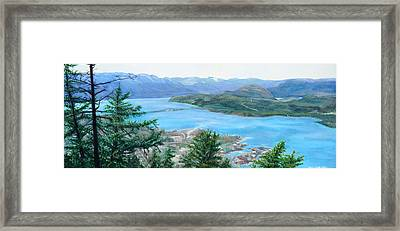 Okanagan Blue Framed Print
