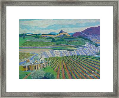 Okanagan Valley Framed Print by Rae  Smith PSC