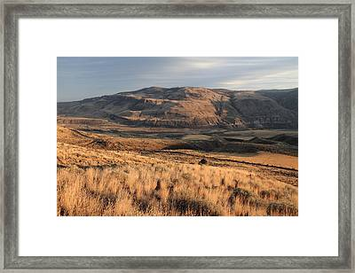 Okanagan Valley Sunset Glow Framed Print by Pierre Leclerc Photography