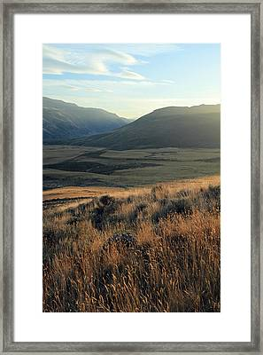 Okanagan Valley Warm Glow Framed Print by Pierre Leclerc Photography
