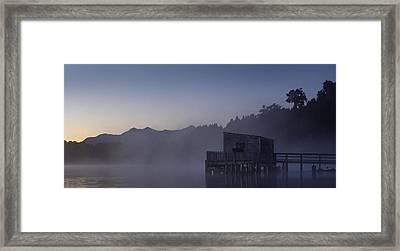 Okarito Glow Framed Print by Peter Prue
