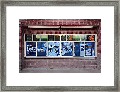 Okc Dodgers Framed Print by Frozen in Time Fine Art Photography