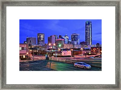 Okc Early Evening Framed Print by Frozen in Time Fine Art Photography