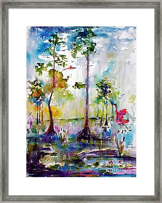 Okefenokee Wild Free And Peaceful Framed Print by Ginette Callaway