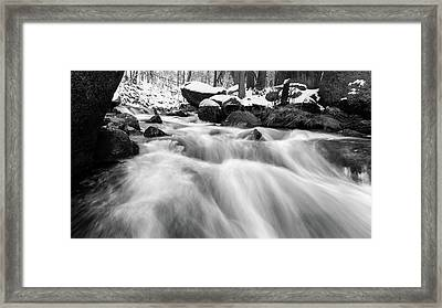 Oker, Harz In Black And White Framed Print by Andreas Levi