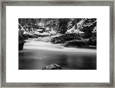 Oker, Harz - Monochrome Version Framed Print by Andreas Levi