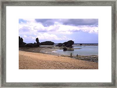 Okinawa Beach 18 Framed Print by Curtis J Neeley Jr
