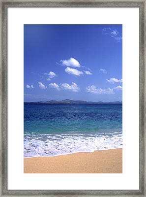 Okinawa Beach 8 Framed Print by Curtis J Neeley Jr