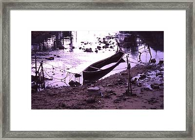 Okinawa Canoe Parking Framed Print by Curtis J Neeley Jr