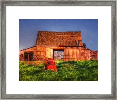 Oklahoma Barn Framed Print