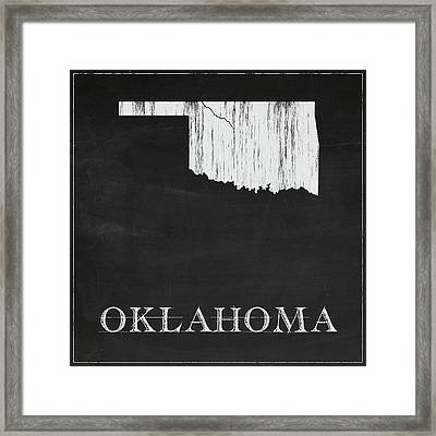 Oklahoma - Chalk Framed Print