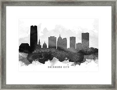 Oklahoma City Cityscape 11 Framed Print by Aged Pixel
