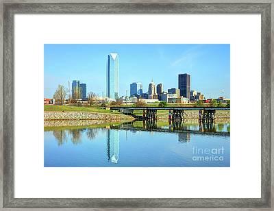 Oklahoma City Skyline Framed Print by Denis Tangney Jr